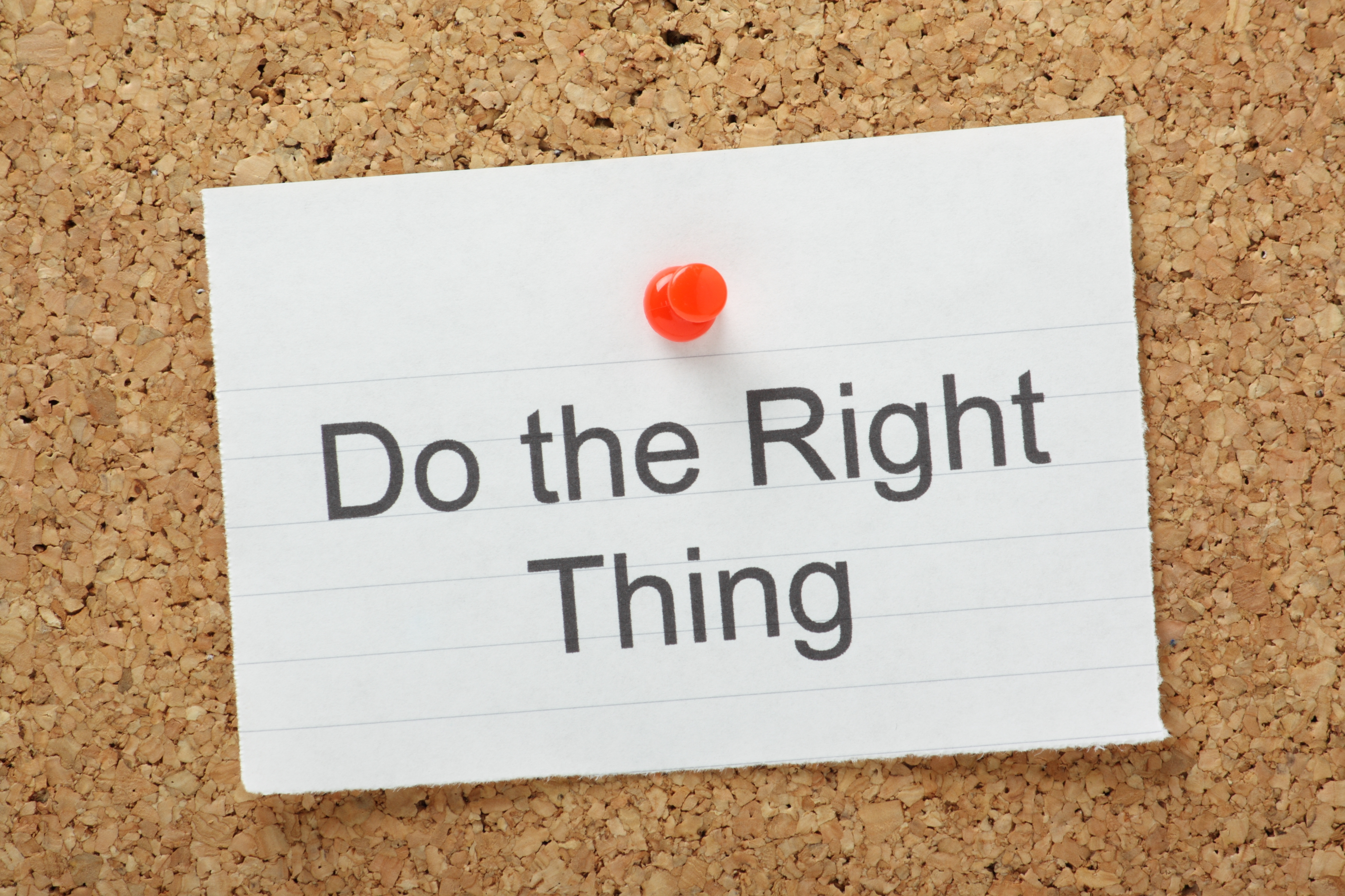 do right thing