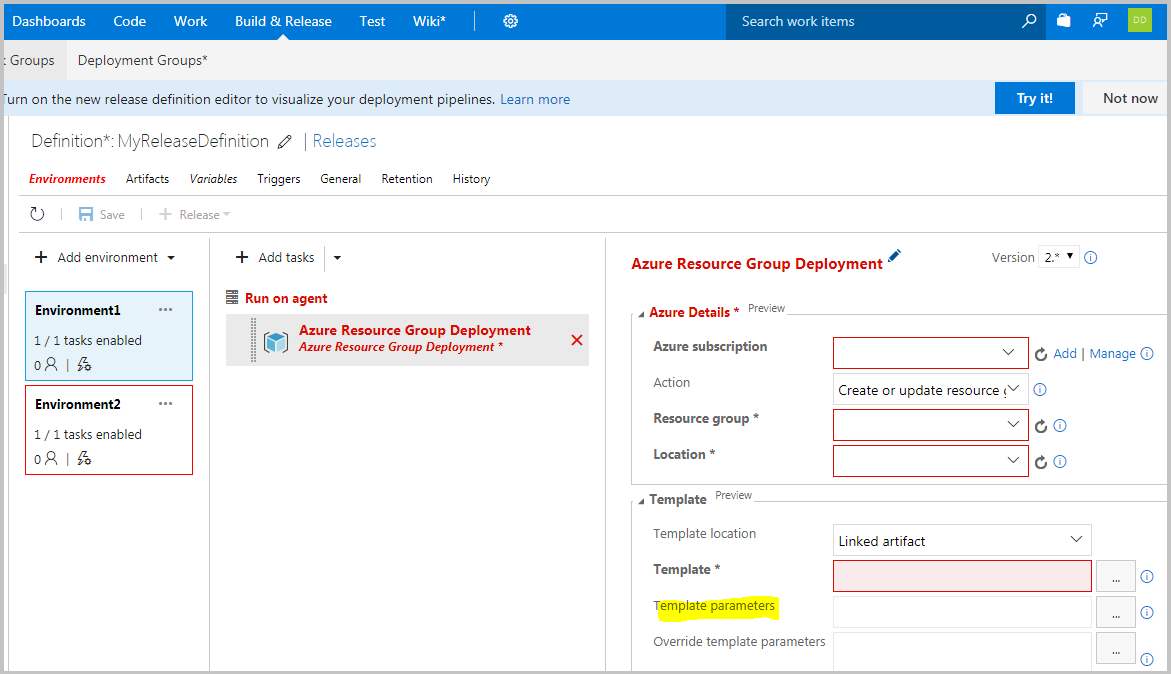 Azure Resource Group Deployment