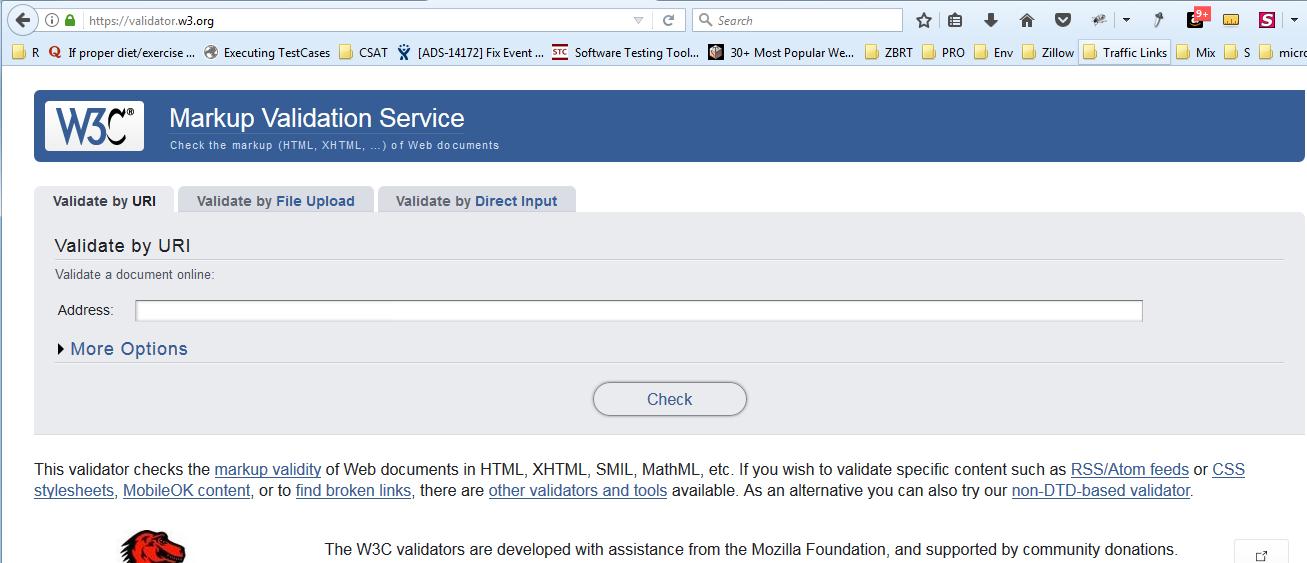 W3C Markup Validation Service