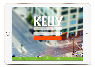 Kelly Services Mobile Jobs app Sign-in Screen