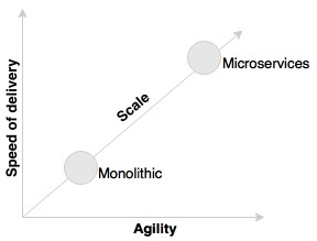 Microservices speed and agility